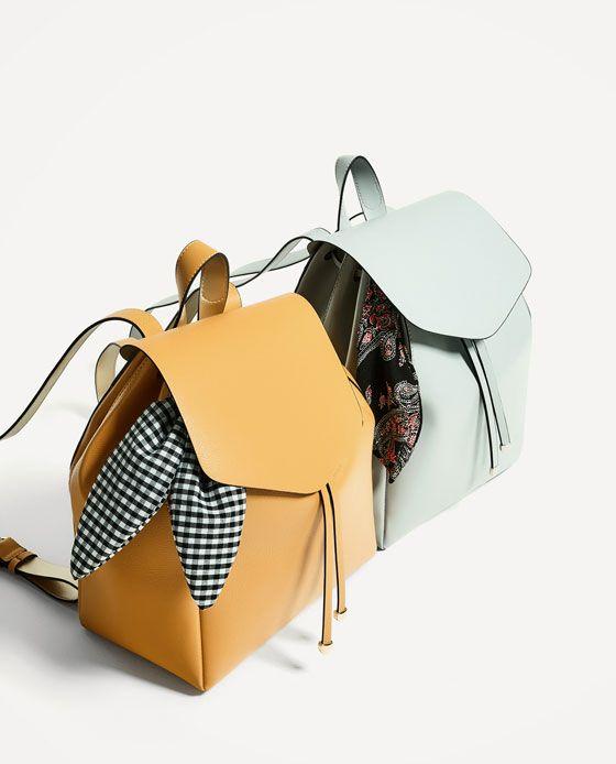Zara'dan 3  FULAR DETAYLI SIRT ÇANTASI Resmi