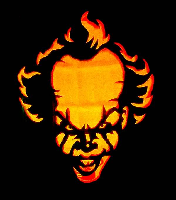 Pennywise It Clown Pumkpkin Carving Ideas 2017 Scary Pumpkin