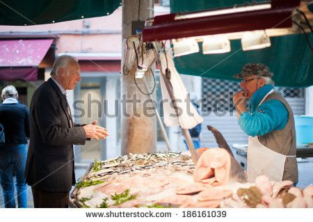 on Shutterstock, by Annalisa Bombarda - Fish Market in Venice - Italian Lifestyle