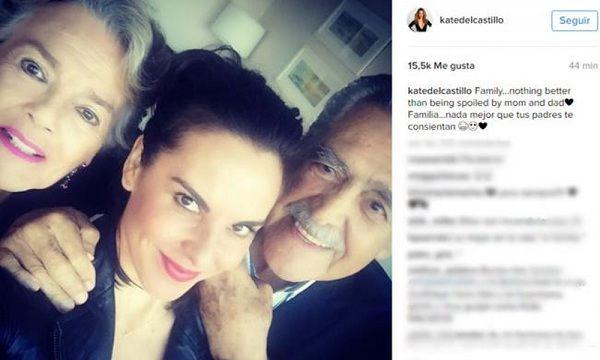 Kate del Castillo presume a sus papás