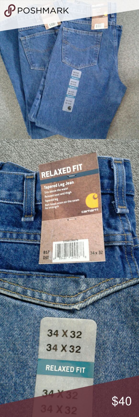 Jeans 2 pairs Carhart  34x32 Carhart Jeans Relaxed