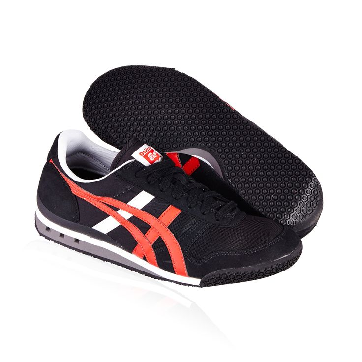 Onitsuka Tiger Ultimate 81 casual shoe-  black/fiery red