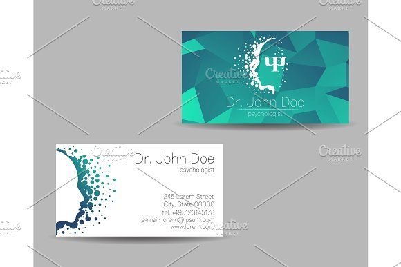 Psychology Vector Visit Card Modern Visiting Cards Business Card Logo Business Photos