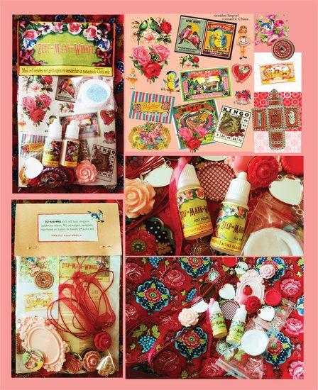 SIERADEN MAKEN MET GIETHARS EN GIETHANGERS TOTAALPAKKET ROMANTIC CHINA STYLE (sieradenhars pakket) - zelf-maak-winkel