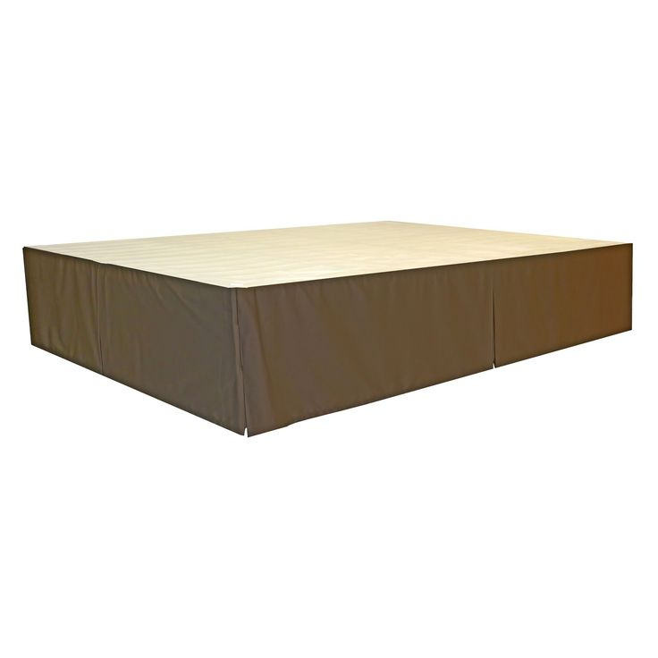 Durabed Steel Platform Bed Frame Decorative Bed Skirt - Black - King-Size - Sit N Sleep, Espresso Brown