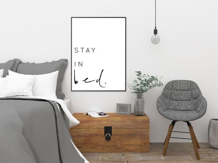 STAY IN BED - DIGITAL DOWNLOAD PRINTABLE