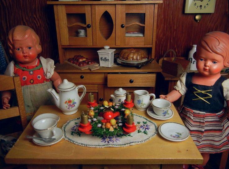 *** Adventsleuchter Kerzenhalter Erzgebirge Weihnachten im Puppenhaus *** | eBay