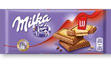 Milka Alpine σοκολάτα γάλακτος και μπισκότα LU