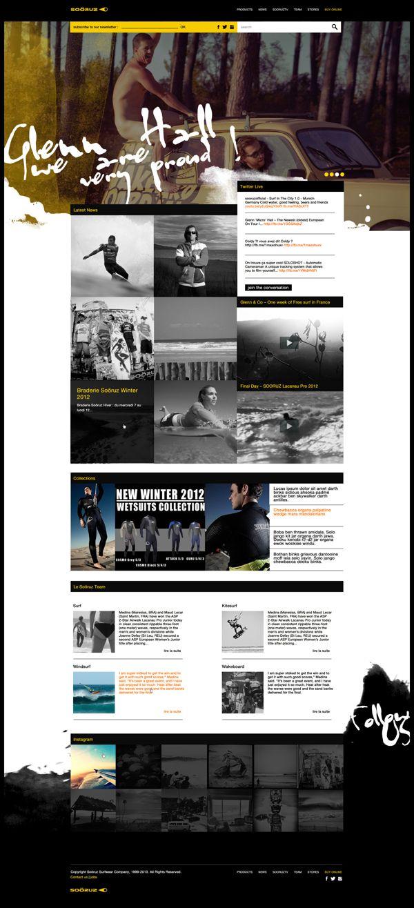 Web | Soöruz Concept by Thomas Le Corre, via #Behance #Webdesign