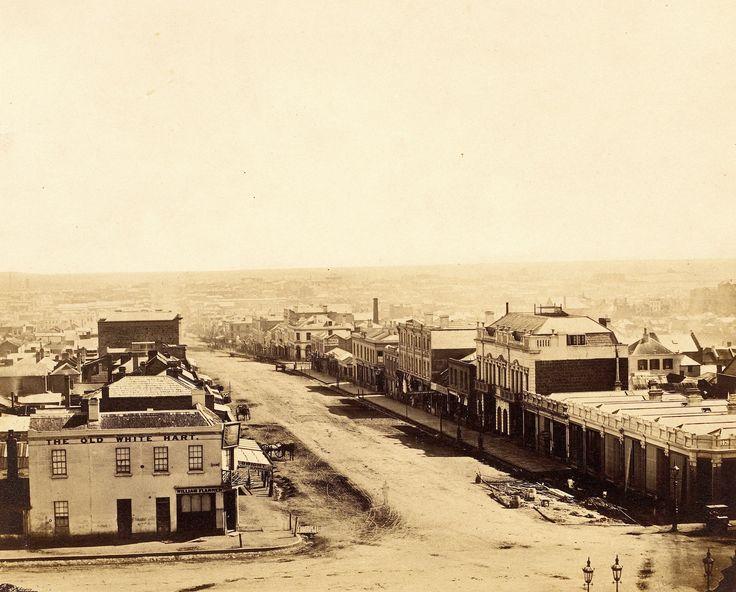 Bourke Street in Melbourne, Australia (c. 1858)