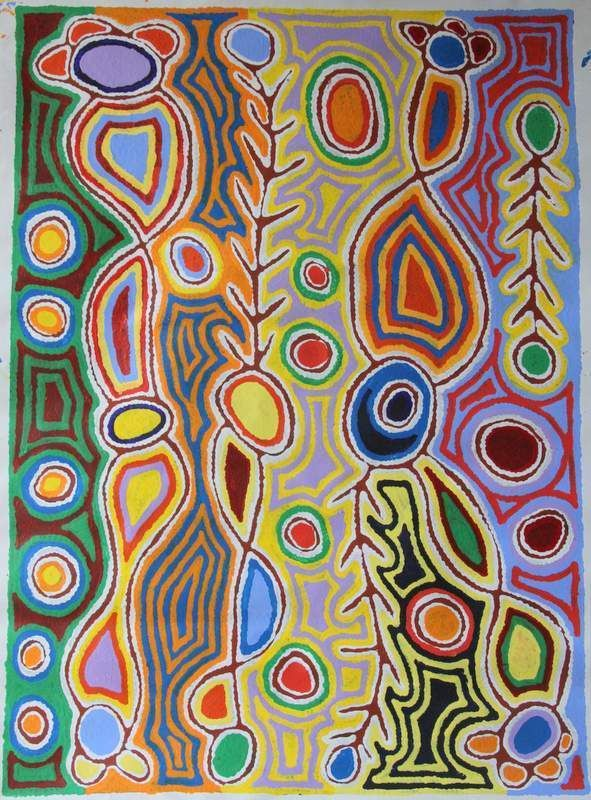 Judy Watson Napangardi Painting SIZE; 107cm by 77cm