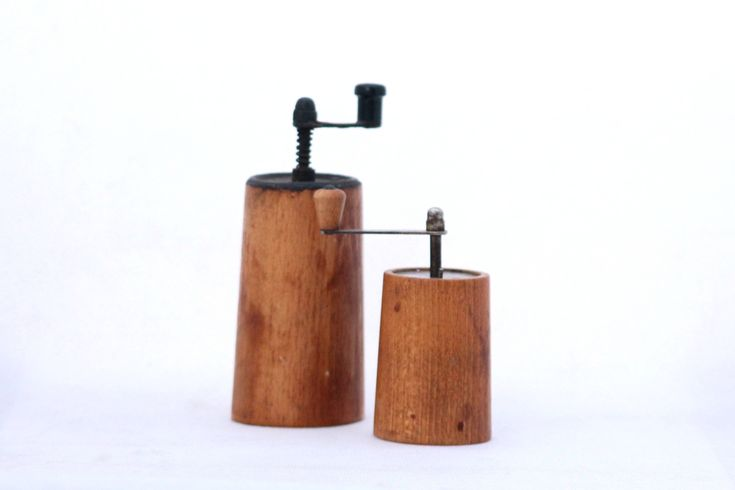 Excited to share the latest addition to my #etsy shop: Vintage wooden two pepper mills / grinders, Wooden mill, Pepper grinder set, Wood Salt and Pepper Grinders http://etsy.me/2EC9m2i #vintage #collectibles #woodenmill #rusticstyle #mill #grinderpepper #peppermill