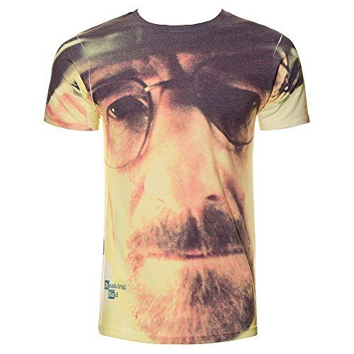 Breaking Bad Unisex-adults Walter Face T Shirt - Large White @ niftywarehouse.com #NiftyWarehouse #BreakingBad #AMC #Show #TV #Shows #Gifts #Merchandise #WalterWhite