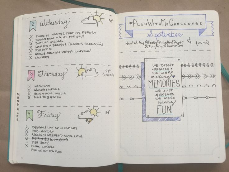 daily pages and challenges