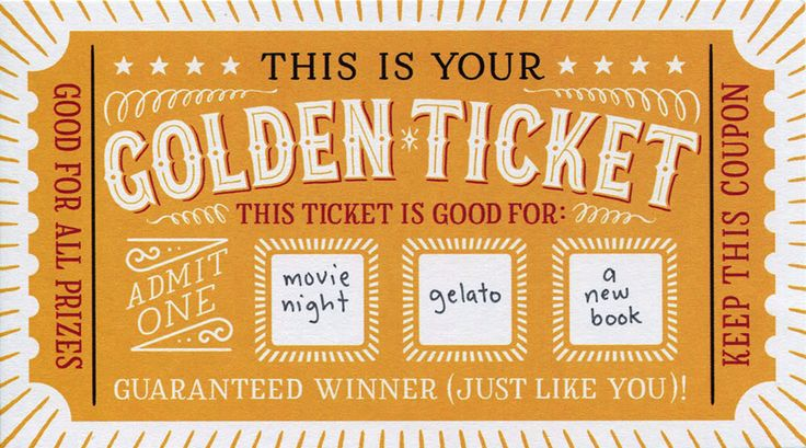 DIY Scratch Off - Golden Ticket                                                                                                                                                                                 Mehr