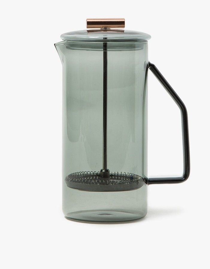 850mL Glass French Press in Grey