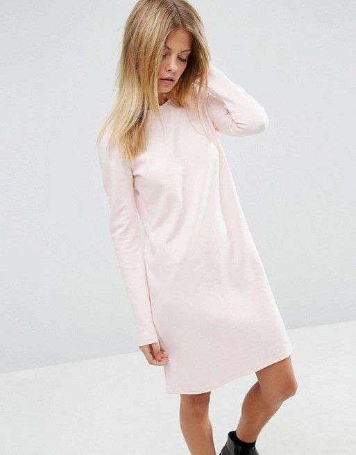 ASOS | ASOS Shift Dress in Ponte with Long Sleeves
