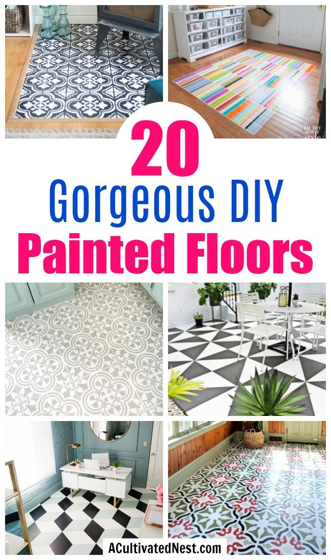 Gorgeous Diy Painted Floor Ideas Painted Vinyl Floors Painted