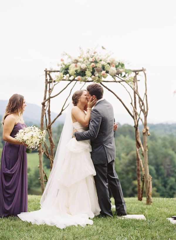 gorgeous ceremony arbor   Clark Brewer #wedding