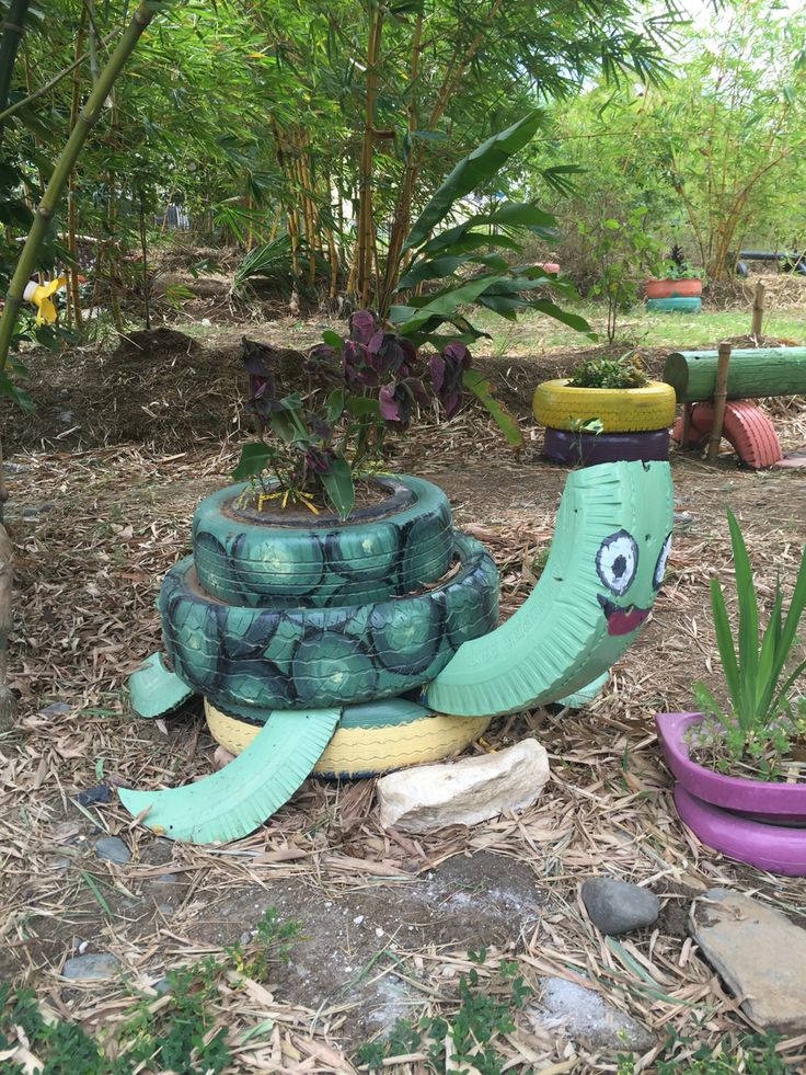 451 best images about things to do with old tires on for Used tire yard art