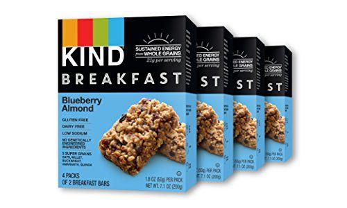 KIND Breakfast Bars, Blueberry Almond, Gluten Free, Non GMO, 1.8oz, 16 Count #KIND #Breakfast #Bars, #Blueberry #Almond, #Gluten #Free, #GMO, #.oz, #Count