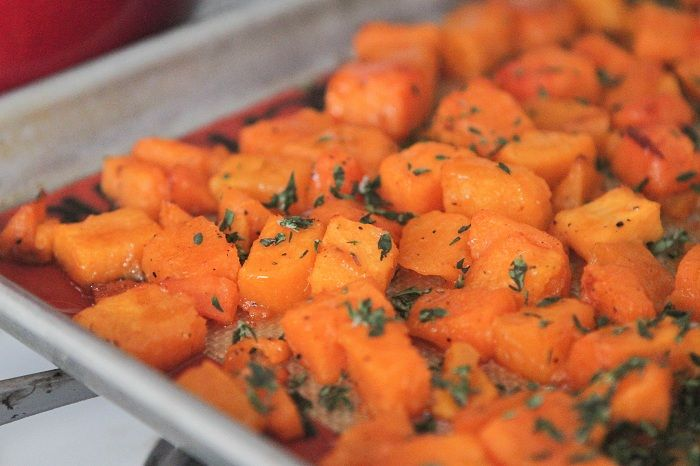 Honey Thyme Roasted Butternut Squash | Butternut Squash, Squashes and ...