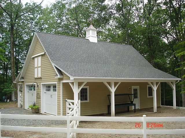 My dream horse barn garage combo horses pinterest for Small pole barn house plans