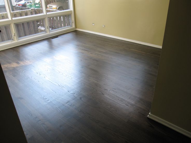 Hardwood Floor Refinish Using Duraseal Ebony Stain Chicago