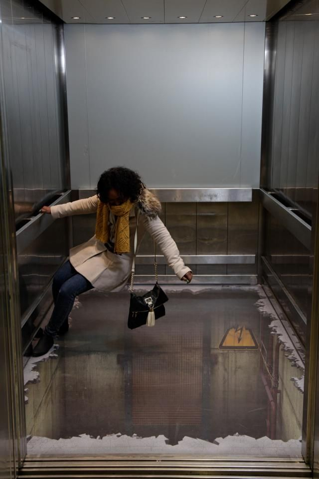 Would you get into the lift if you thought there was a hole in the floor?