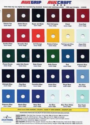 Boat Paint Color Chart Bing Images Spectra Pinterest