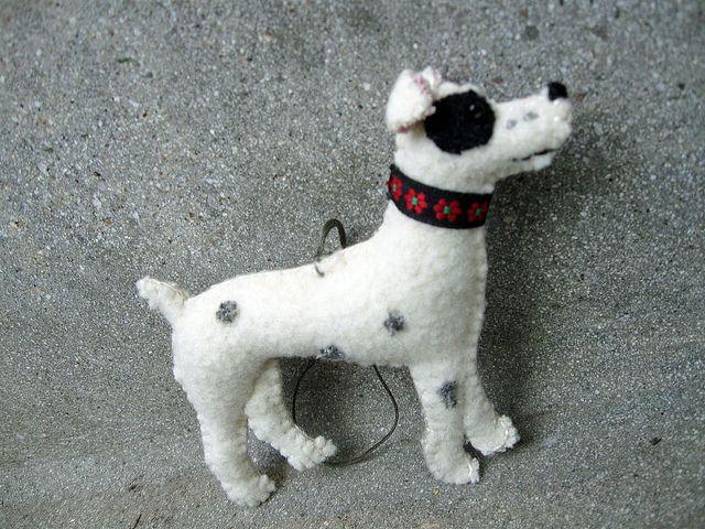 Felt Rat Terrier Dog Ornament