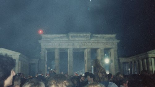 Brandenburg Gate on German reunification day 1990