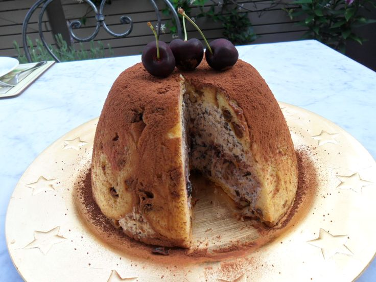 Chocolate & cherry panettone zucotto