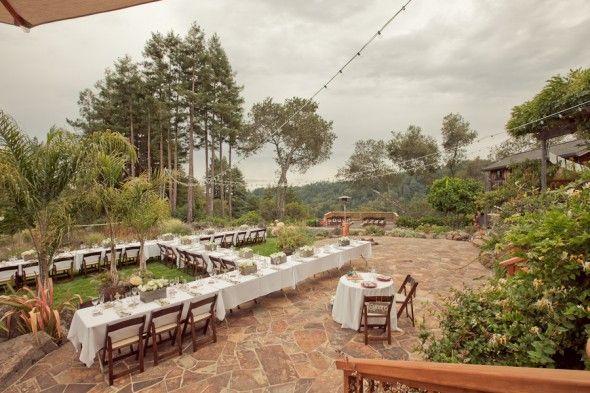 Outdoor wedding venue CA