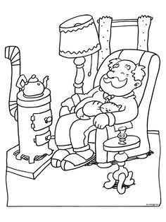 Opa bakkebaard heeft een huisje en is moe van al t werk