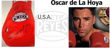 перчатки Cleto Reyes, подписанные Оскаром Де Ла Хойя