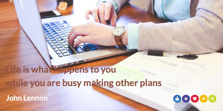 while you are busy making other plans #quote - Danke Geschenke