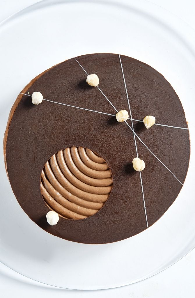 Dacquoise Hazel Chocolate Cake at #Latitude03 as the cake of the month