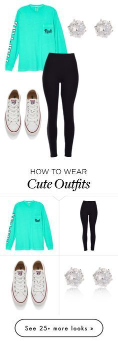 """""""Cute outfit for school"""" by ryleemendel on Polyvore featuring Victoria's Secret, Converse, River Island, women's clothing, women, female, woma…"""