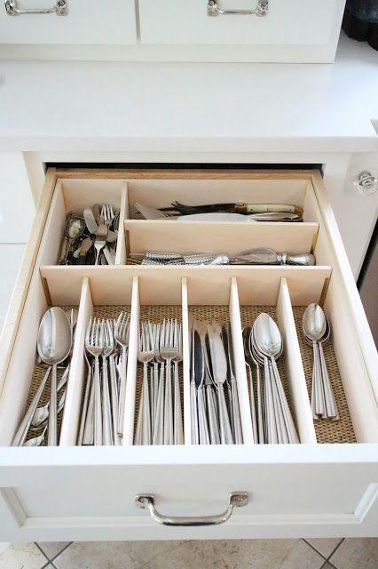 Best 25 silverware storage ideas on pinterest for Creative silverware storage