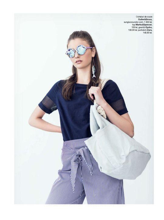 AHOY SAILOR #CutlerandGross round sunglasses featured in a fashion editoral for #Glamour Magazine Romania // June 2016
