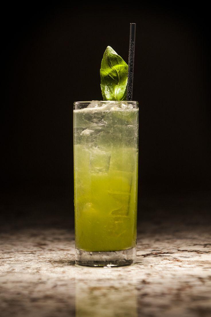 Basil Gray: Spring 44 Gin, Fresh Lemon Juice, Ginger, Lemongrass, Absinthe, Basil www.haroldsoflongmont.com #Haroldsoflongmont  #Craftcocktails #alcohol #liquor #vintagecocktails