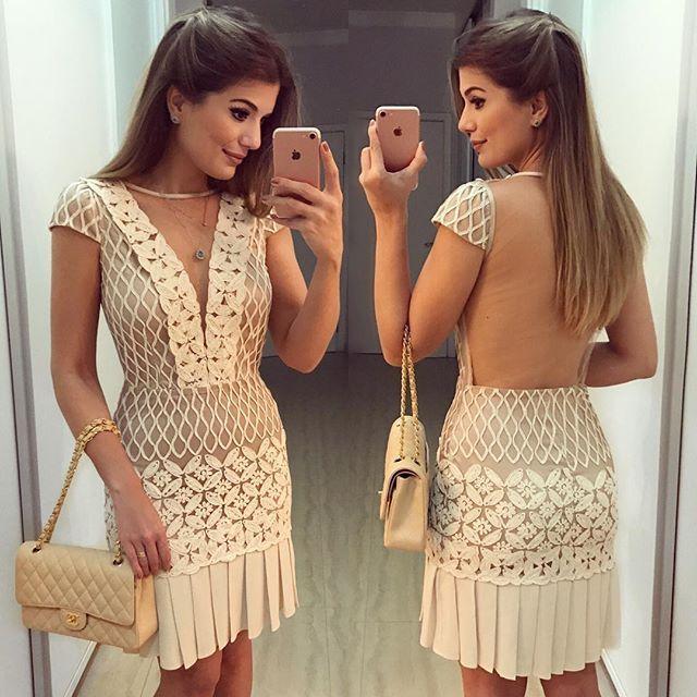{Night ✨} De @imperiostoreriopreto Vestido de renda com detalhes lindos! ❤️Disponível online no site www.imperiostoreriopreto.com ❤️• #ootn #lookdanoite #lookofthenight #selfie #blogtrendalert