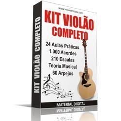 Aprenda a tocar Violão sem sair de casa com o curso Kit Violão Completo! O Curso contém: - 24 aulas práticas - 1.000 Acordes para Violão - 210 Escalas para Violão - 60 Arpejos para Violão - Teoria Musical para Violão Realmente uma incrível biblioteca sobre Violão por um preço inacreditável.   #aprendendo a tocar violão do zero #Kit Violão Completo #tocar violão