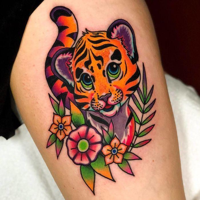 20 Lisa Frank Tattoos Full Of Rainbows Animal Print Tattoos