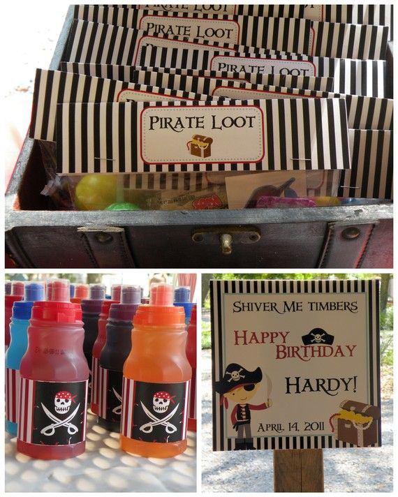 Custom Loot Bag - Pirate Theme Birthday Big Party Package  Boy DIY by PartySoPerfect, $35.00
