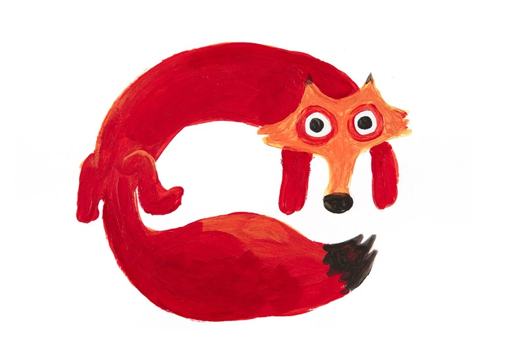 The Bright Red Fox