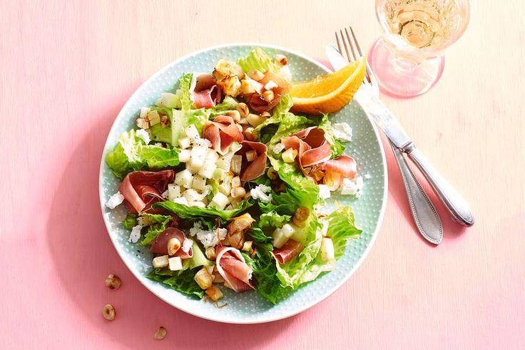 Haal Spanje naar je keuken met deze frisse salade met mediterrane ham - Recept - Allerhande