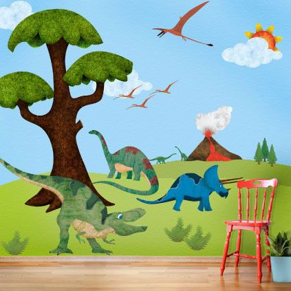 28 best boys room dinosaur theme images on pinterest for Dinosaur themed kids room