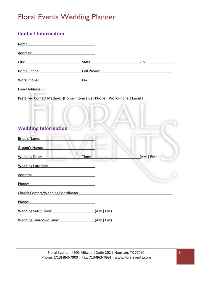 13 best Floral Business Paperwork images on Pinterest Florists - wedding contract